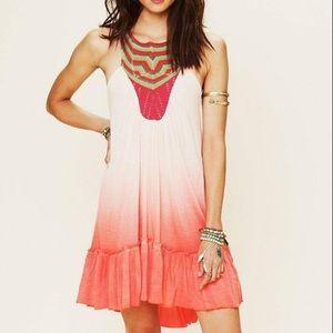 {Free People} Ombré Belle Fleur Knit Boho Dress